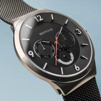 Zegarek srebrny klasyczny Bering Classic 33441-102 bransoleta - duże 3