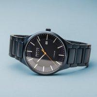 Zegarek srebrny klasyczny Bering Solar 15239-797 bransoleta - duże 4