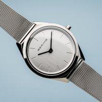 Zegarek srebrny klasyczny Bering Ultra Slim 17031-000 bransoleta - duże 3