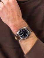 Zegarek srebrny klasyczny Citizen Automat NJ0100-11E pasek - duże 3