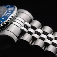 Zegarek srebrny klasyczny Davosa Diving 161.571.04 bransoleta - duże 5