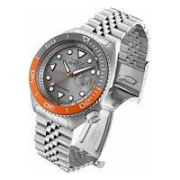 Zegarek srebrny klasyczny Invicta Pro Diver 30412 bransoleta - duże 3