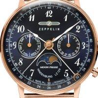 Zegarek damski Zeppelin hindenburg 7039M-3 - duże 2